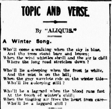 winter The Brisbane Courier (Qld.  1864-1933), Saturday 12 June 1920