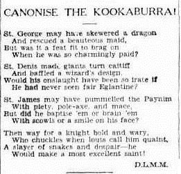 KOOKA The Sydney Morning Herald (NSW 1842 - 1954), Saturday 22 October 1932,