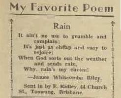 RAIN The Australian Women's Weekly (1933 - 1982), Saturday 10 November 1934,